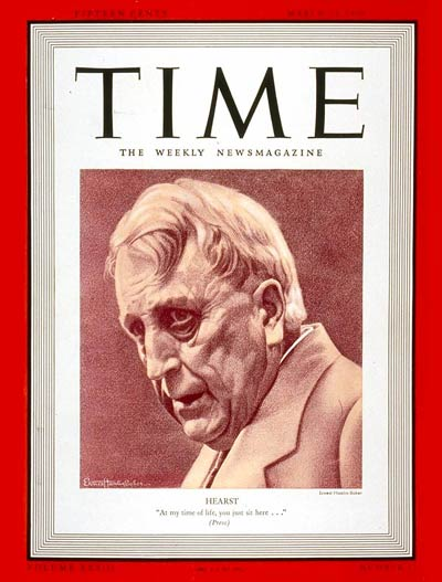TIME Magazine Cover: William R. Hearst -- Mar. 13, 1939