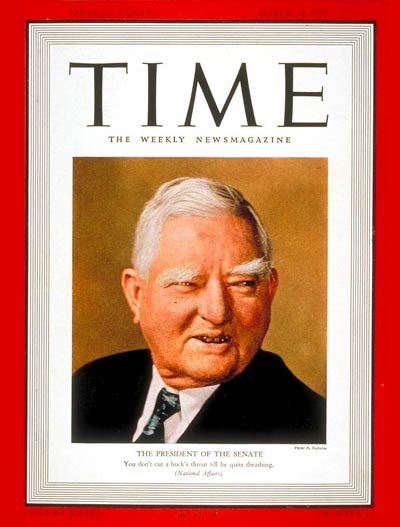 TIME Magazine Cover: John Nance Garner -- Mar. 20, 1939