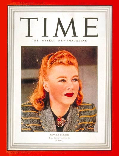 TIME Magazine Cover: Ginger Rogers -- Apr. 10, 1939