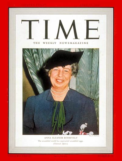TIME Magazine Cover: Eleanor Roosevelt -- Apr. 17, 1939