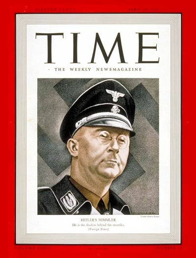 TIME Magazine Cover: Heinrich Himmler -- Apr. 24, 1939