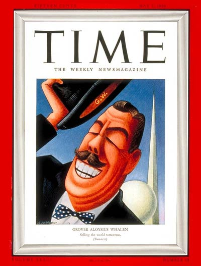TIME Magazine Cover: Grover A. Whalen -- May 1, 1939