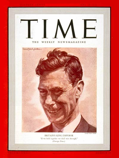 TIME Magazine Cover: King George VI -- May 15, 1939