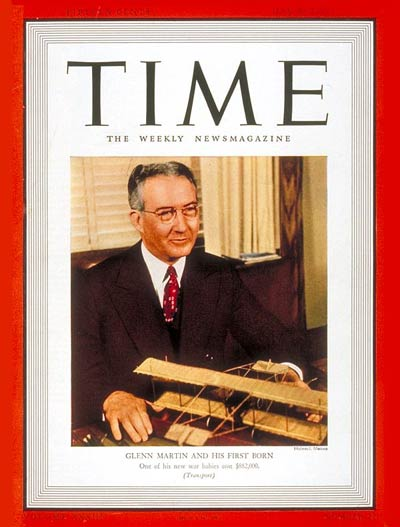 TIME Magazine Cover: Glenn L. Martin -- May 29, 1939