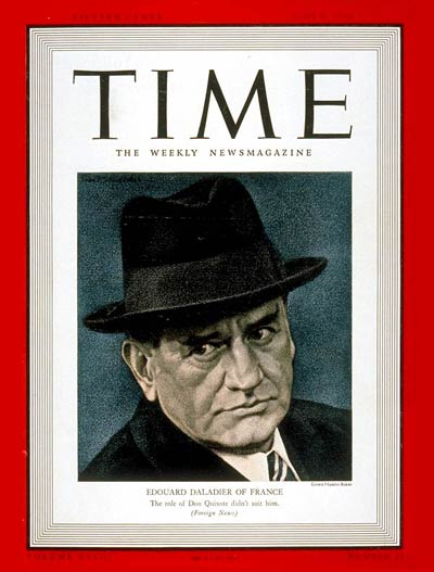 TIME Magazine Cover: Edouard Daladier -- June 5, 1939