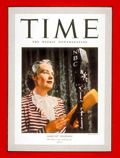 TIME Magazine Cover: Dorothy Thompson -- June 12, 1939