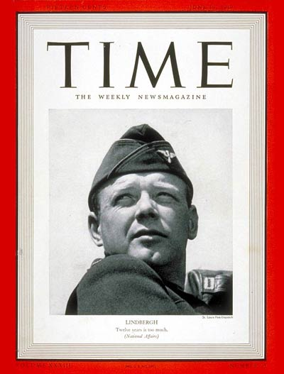 TIME Magazine Cover: Charles A. Lindbergh -- June 19, 1939