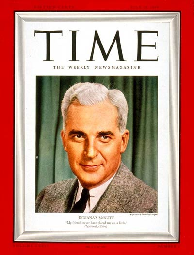 TIME Magazine Cover: Paul V. McNutt -- July 10, 1939