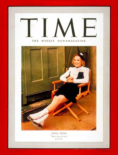 TIME Magazine Cover: Sonja Henie -- July 17, 1939