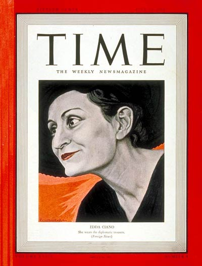 TIME Magazine Cover: Edda Ciano -- July 24, 1939