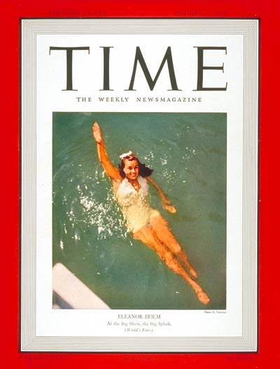 TIME Magazine Cover: Eleanor Holm -- Aug. 21, 1939