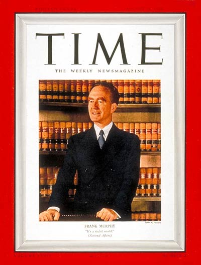 TIME Magazine Cover: Frank Murphy -- Aug. 28, 1939
