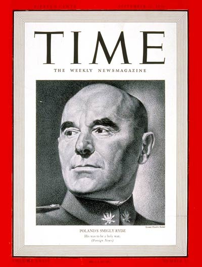 TIME Magazine Cover: Marshal Smigly-Rydz -- Sep. 11, 1939