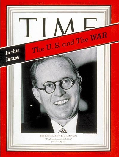 TIME Magazine Cover: Joseph P. Kennedy -- Sep. 18, 1939