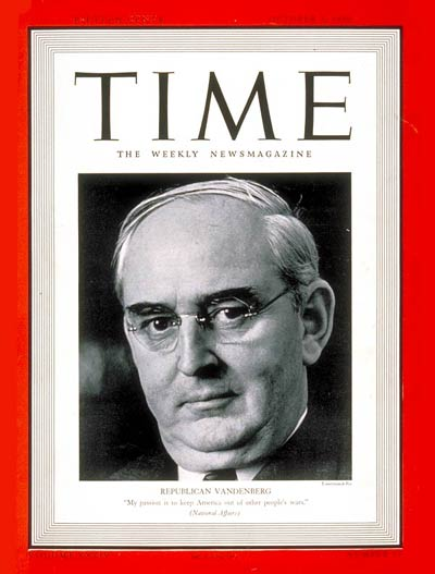 TIME Magazine Cover: Arthur Vandenberg -- Oct. 2, 1939