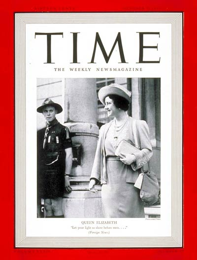 TIME Magazine Cover: Queen Elizabeth -- Oct. 9, 1939