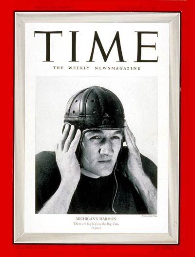 TIME Magazine Cover: Tom Harmon -- Nov. 6, 1939