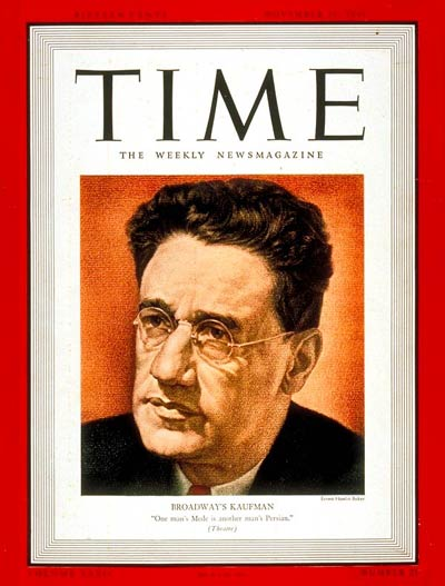 TIME Magazine Cover: George S. Kaufman -- Nov. 20, 1939