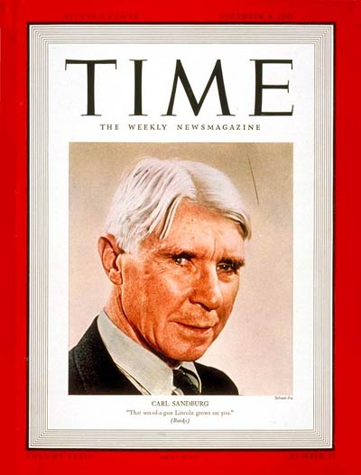 TIME Magazine Cover: Carl Sandburg -- Dec. 4, 1939
