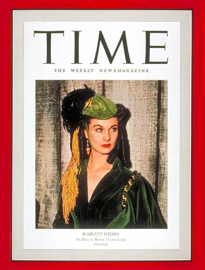 TIME Magazine Cover: Vivien Leigh -- Dec. 25, 1939