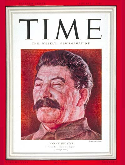 TIME Magazine Cover: Joseph Stalin, Man of the Year -- Jan. 1, 1940