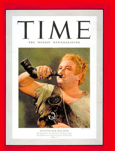 TIME Magazine Cover: Lauritz Melchoir -- Jan. 22, 1940