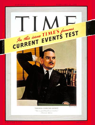 TIME Magazine Cover: Thomas E. Dewey -- Feb. 26, 1940