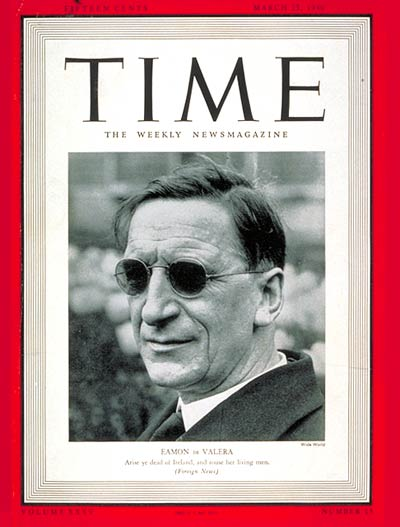 TIME Magazine Cover: Eamon de Valera -- Mar. 25, 1940