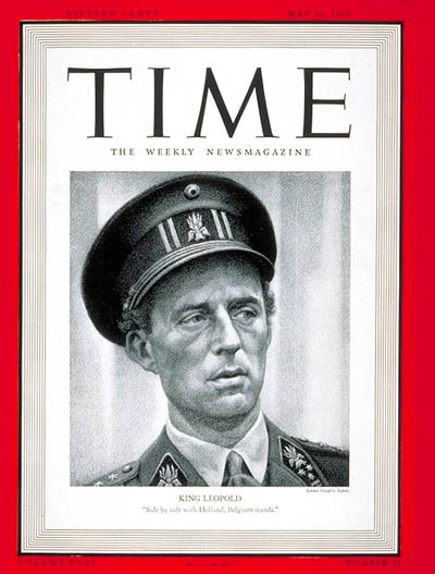 TIME Magazine Cover: King Leopold III -- May 20, 1940
