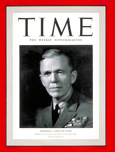 TIME Magazine Cover: General George Marshall -- July 29, 1940