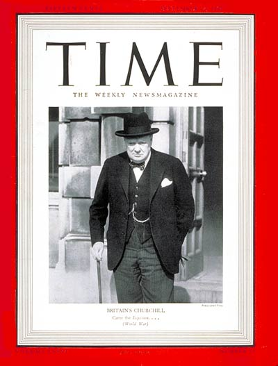 TIME Magazine Cover: Winston Churchill -- Sep. 30, 1940