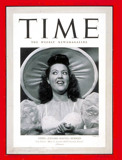 TIME Magazine Cover: Ethel Merman -- Oct. 28, 1940