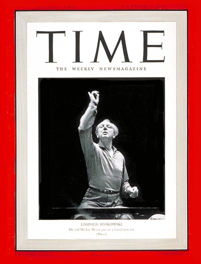 TIME Magazine Cover: Leopold Stokowski -- Nov. 18, 1940