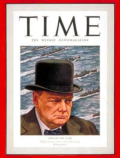 TIME Magazine Cover: Winston Churchill, Man of the Year -- Jan. 6, 1941