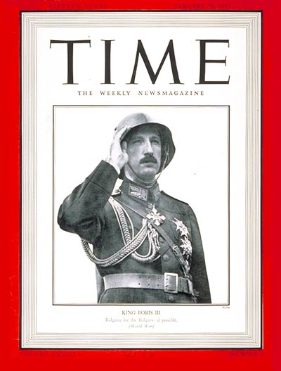 TIME Magazine Cover: King Boris III -- Jan. 20, 1941
