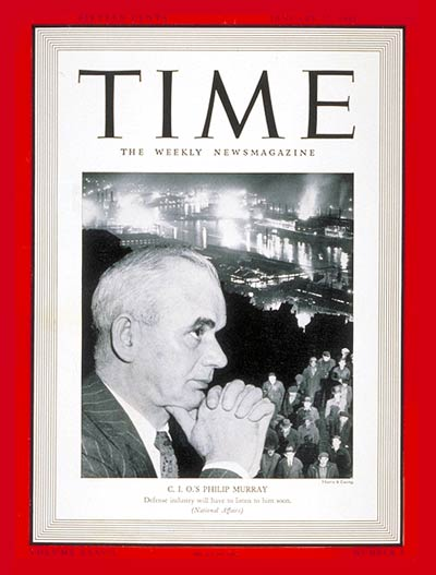 TIME Magazine Cover: Phillip Murray -- Jan. 27, 1941