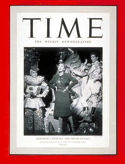 TIME Magazine Cover: Gertrude Lawrence -- Feb. 3, 1941