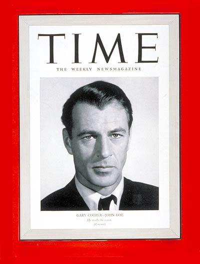 TIME Magazine Cover: Gary Cooper -- Mar. 3, 1941