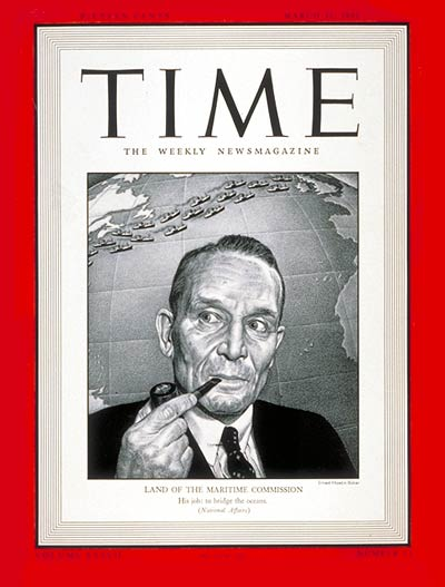 TIME Magazine Cover: Emory Scott Land -- Mar. 31, 1941