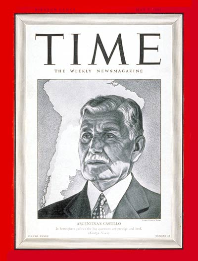 TIME Magazine Cover: Ramon S. Castillo -- May 5, 1941