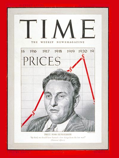 TIME Magazine Cover: Leon Henderson -- May 12, 1941