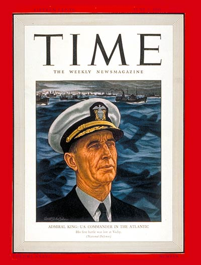 TIME Magazine Cover: Admiral Ernest J. King -- June 2, 1941