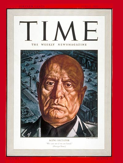 TIME Magazine Cover: Benito Mussolini -- June 9, 1941