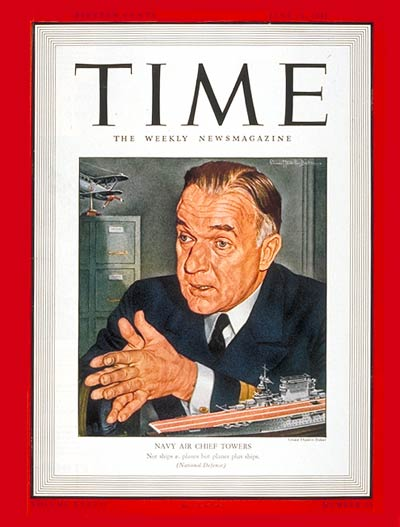 TIME Magazine Cover: Rear Admiral Jack Towers -- June 23, 1941