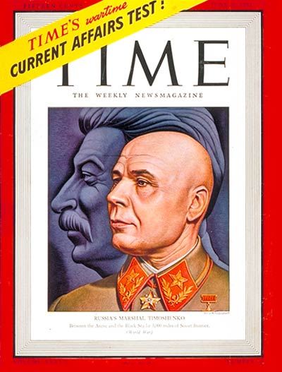 TIME Magazine Cover: Marshall Timoshenko -- June 30, 1941