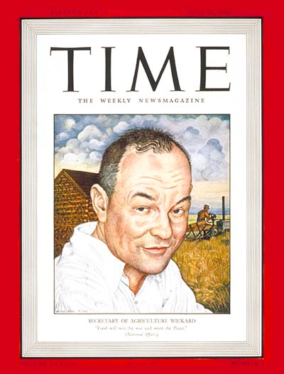 TIME Magazine Cover: Claude Wickard -- July 21, 1941