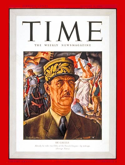 TIME Magazine Cover: Charles DeGaulle -- Aug. 4, 1941
