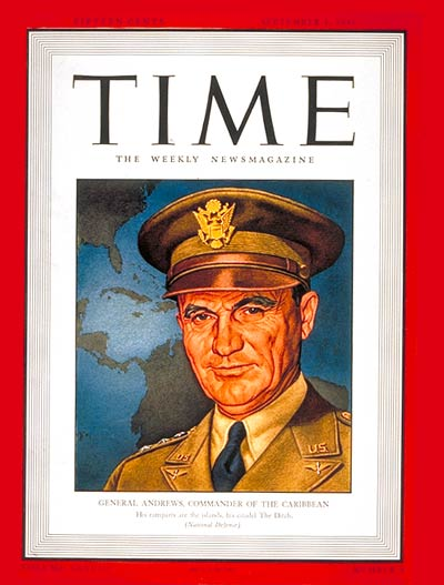 TIME Magazine Cover: General Frank Andrews -- Sep. 1, 1941