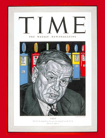 TIME Magazine Cover: Harold Ickes -- Sep. 15, 1941