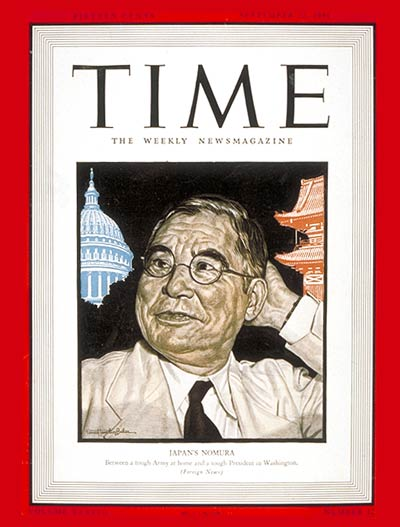 TIME Magazine Cover: Kichisaburo Nomura -- Sep. 22, 1941